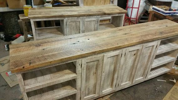 YOUR Custom Made Rustic Barn Wood Cabinet or by timelessjourney