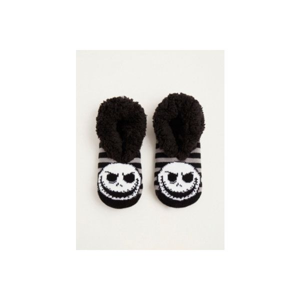 Torrid Nightmare Before Christmas Jack Head Slipper socks (65 HRK) ❤ liked on Polyvore featuring intimates, hosiery, socks, accessories, hosiery & socks, plus size, purple, women's plus size socks, plus size hosiery and christmas socks