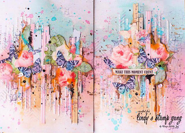 Enjoy your life: Весенний разворот в арт-журнал. Видео МК