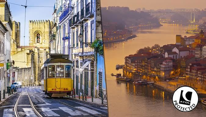 Lisbon & Porto, Portugal: 4-6 Night Trip With Flights, Hotels & Train Transfers - Up to 44% Off Visit two of Portugal's most famous cities with a 4-6 night stay in Lisbon and Porto      Lisbon, the capital, is a pastel-coloured coastal city with eclectic culture on every corner      Stay at Avenida Park Hotel, Hotel 3K Europa, Turim Luxe Hotel or Turim Restauradores Hotel      Explore a...