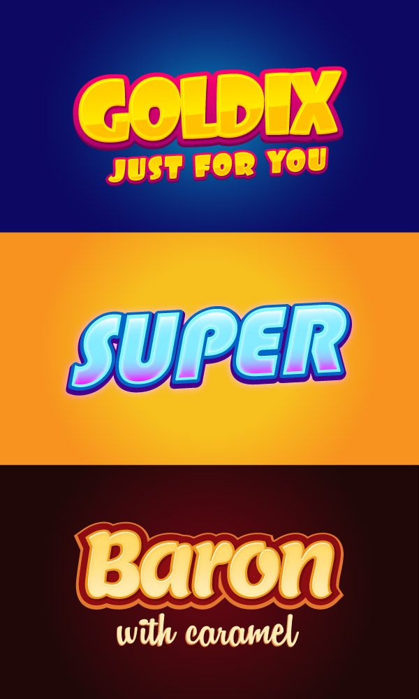 3 Illustrator Graphic Styles Vol.2 | GraphicBurger Like the lower 'Baron' font for logo / icon