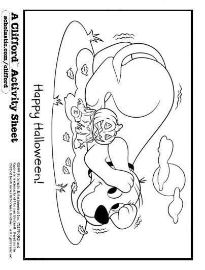 clifford preschool coloring pages - photo#11