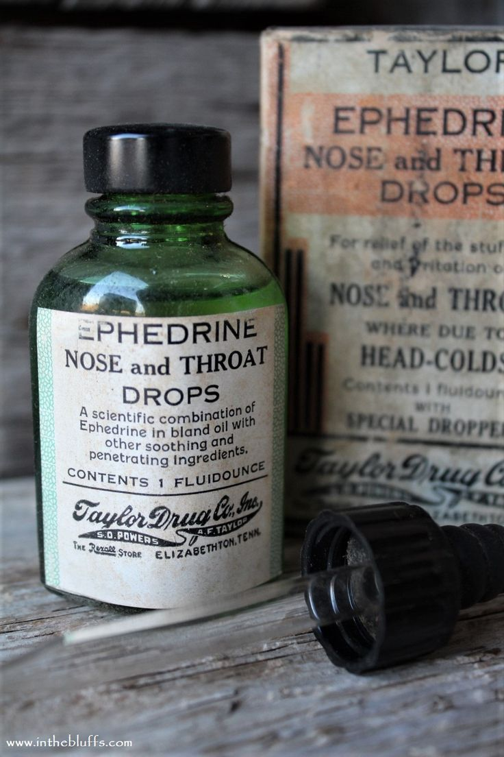 Antique ephedrine nose throat drops medicine drug store