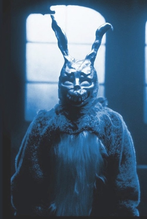 frank the scary  bunny  , looks like Donnie Darko Movie 2001,   Jake Gyllenhaal - Actor