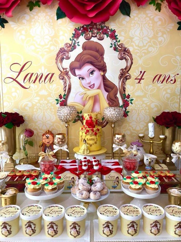 Princess Belle + Beauty & the Beast Birthday Party