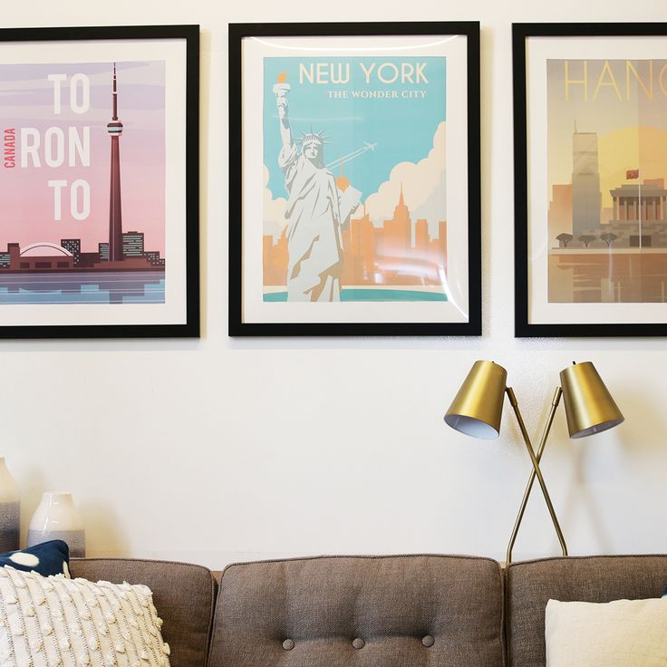 Room Looking Drab? Upgrade Posters With A Custom Mat & Frame
