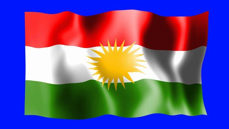 Kurdistan Waving Flag - Green Screen Animation