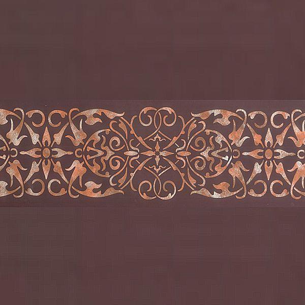 Arabesque border stencil entry ways design and classic for Classic border design