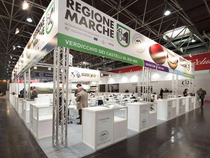 Prowein - Düsseldorf: REGIONE MARCHE. Ricerca, analisi, promozione e comunicazione. Progettazione e realizzazione dell'allestimento dello stand. Photo by honegger