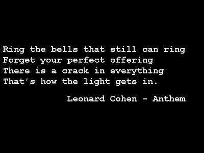vispo etc: Lyrics, Leonard Cohen - Anthem
