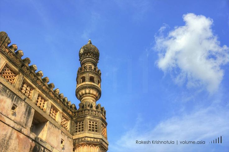 One of minarets at Golkonda fort. VOLUME | www.volume.asia By Rakesh Krishnotula Follow on IG : rakesh.krishnotula Production : volume.asia