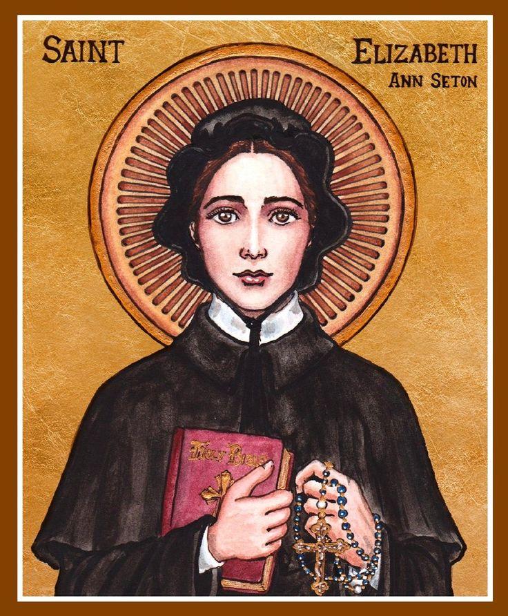 St. Elizabeth Ann Seton Icon by Theophilia on deviantART ~ watercolor, ink & gold leaf