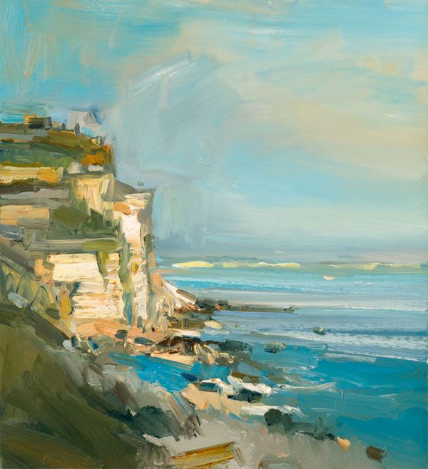 David Atkins: The Sea and Cliffs, Portland, Dorset Campden Gallery, fine art, Chipping Campden, camden gallery, contemporary, contemporary arts, contemporary art, artists, painting, sculpture, abstract painting, gloucestershire, cotswolds, painting for sale, artwork for sale, modern art gallery, art exhibitions,arts gallery, gallery art, art gallery UK