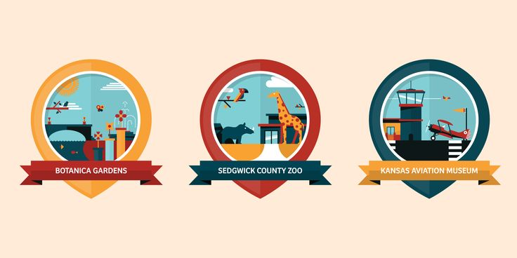 Wichita Location Badges - Dangerdom Studios