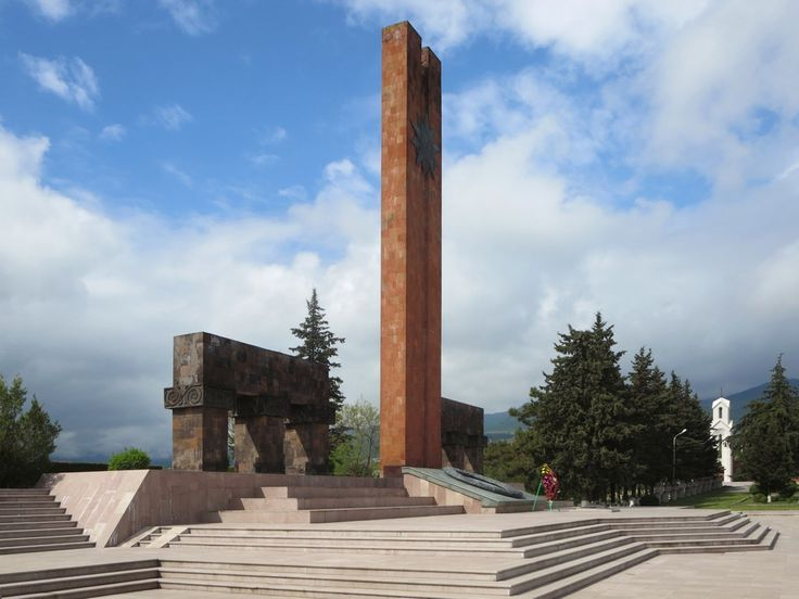 The Victory Monument in Stepanakert honors the sacrifices of both World War Two and the Nagorno Karabakh independence war.