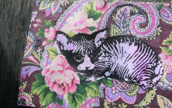 2 layer Lavender // Floral Hairless Cat Patch
