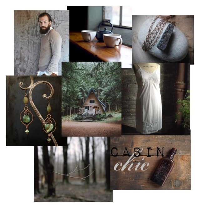 """""""Cabin Chic"""" by insearchofwild ❤ liked on Polyvore featuring art, rustic and etsy"""