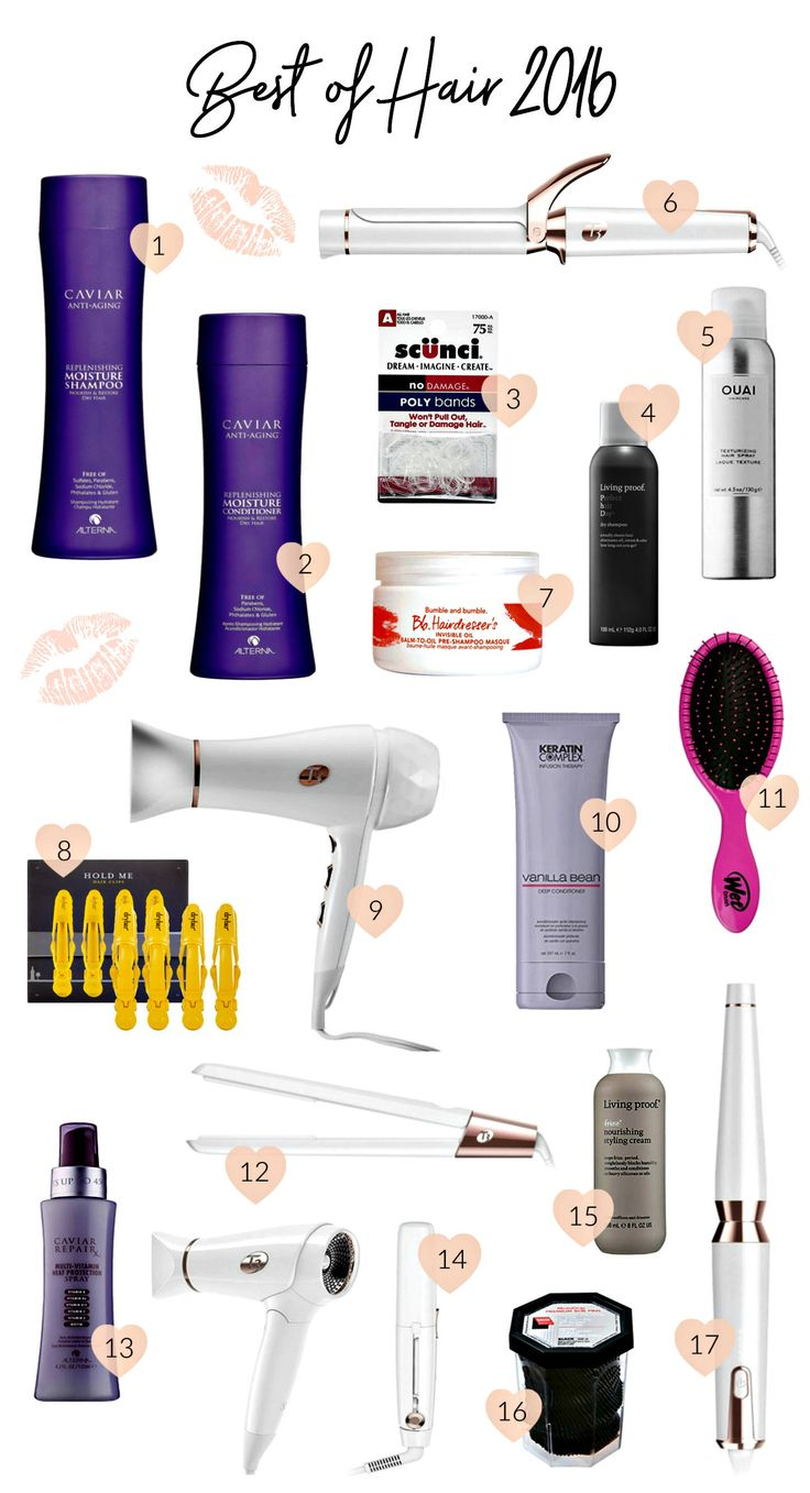 Beauty blogger Mash Elle shares her Ride or Die Best of Hair 2016 including the best T3 hairdryer, curling wand, curling iron, Caviar shampoo and conditioner, Ouai hairspray, Keratin Complex Vanilla Bean leave in conditioner, Dry Bar hair clips, Living Proof dry shampoo, styling cream, bumble and bumble hair mask, scunci elastics and more!