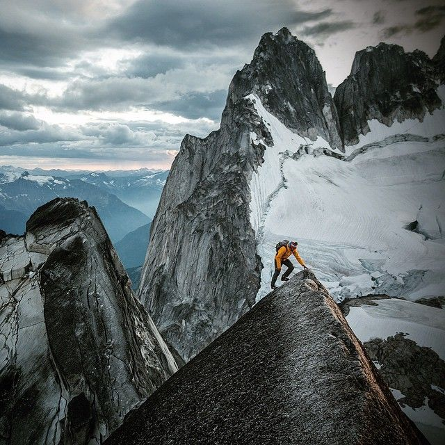 Photographer: Jimmy Chin - Stoked to be working with @LifeProof this year to go on some epic adventures. Finally getting some help to keep me from destroying my phones in places like this....#sponsor #LiveLifeProof