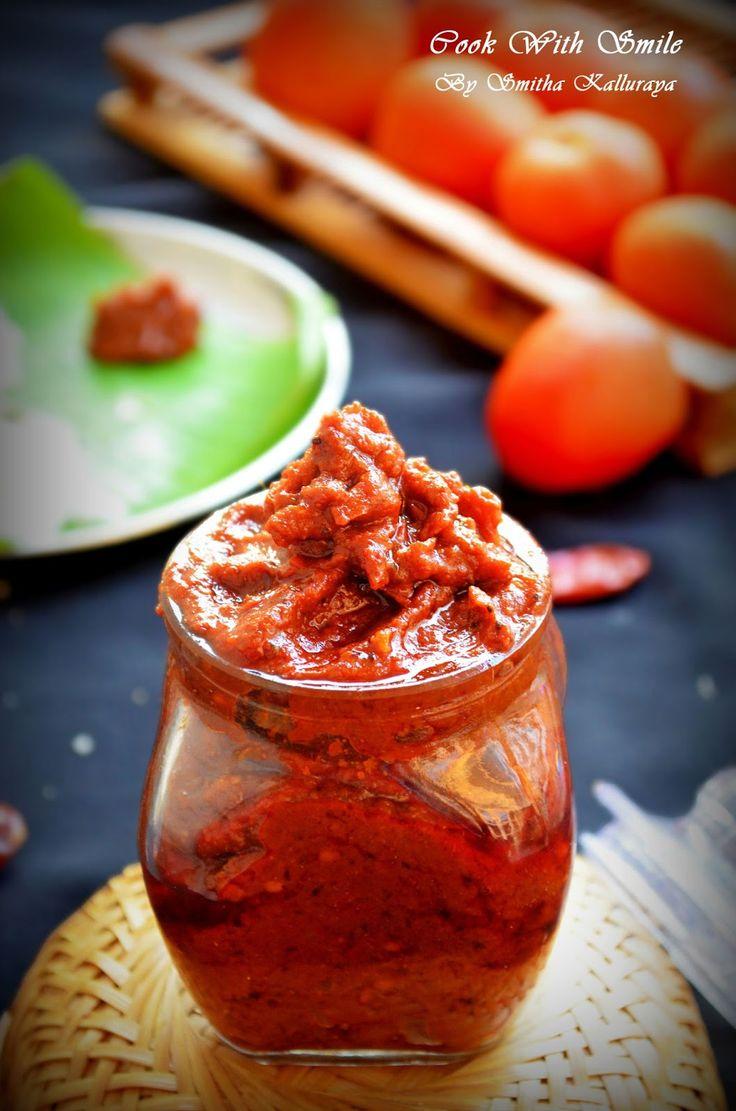 tomato pickle recipe,tomato thokku recipe,tomato thokku