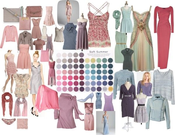 """Soft Summer Color Palette"" by blueskies22 ❤ liked on Polyvore"