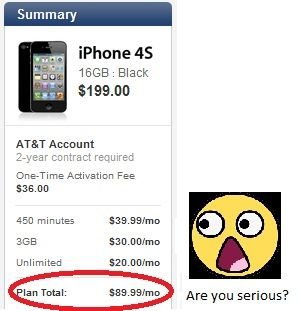 Prepaid iPhone: Get an iPhone for $45/month.  This really works!