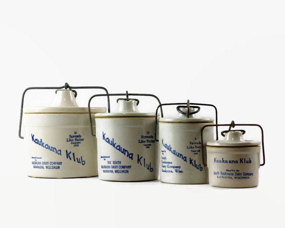 Vintage Stoneware Crock Set Crock with Lid by GizmoandHooHa