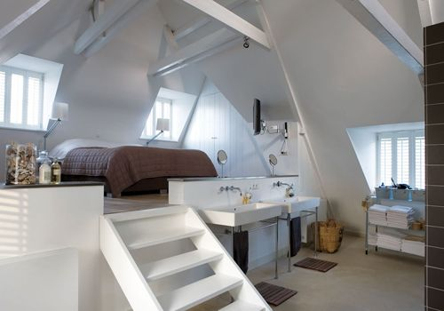 Floor height changes/lofted spaces feel so open and cozy at the same time