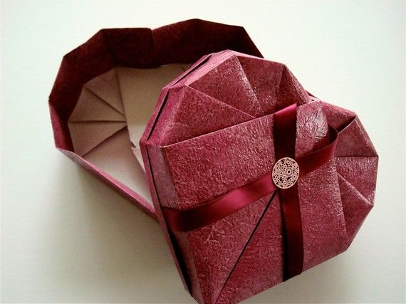 Valentine's day : Origami Heart Box | Origami | Pinterest - photo#38