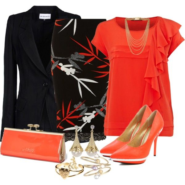 """""""Smart Skirt Outfit"""" by mozeemo on Polyvore"""