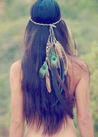Peacock feathers headband
