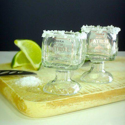 One Patron Tequila Bottle Margarita Shot Glass - 50ml