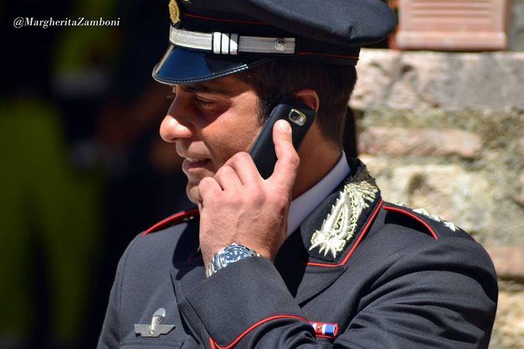 Simone Montedoro as captain Guilio Tommasi filming Don Matteo 9 in Spoleto, Italy.