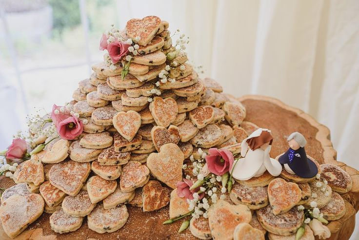 Welshcake Cake Tower Fun Outdoorsy Farm Wedding http://www.samgibsonweddings.co.uk/