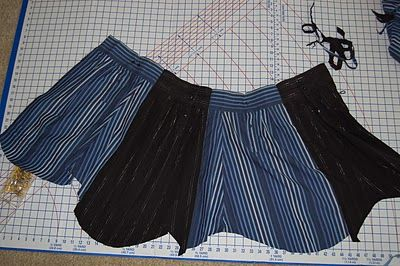 How to make a skirt from re-purposed men's shirt sleeves - tutorial