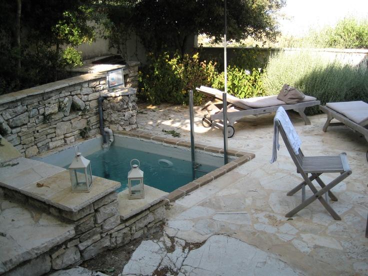 Plunge pool rou estate corfu dreamin pinterest for Garden plunge pool