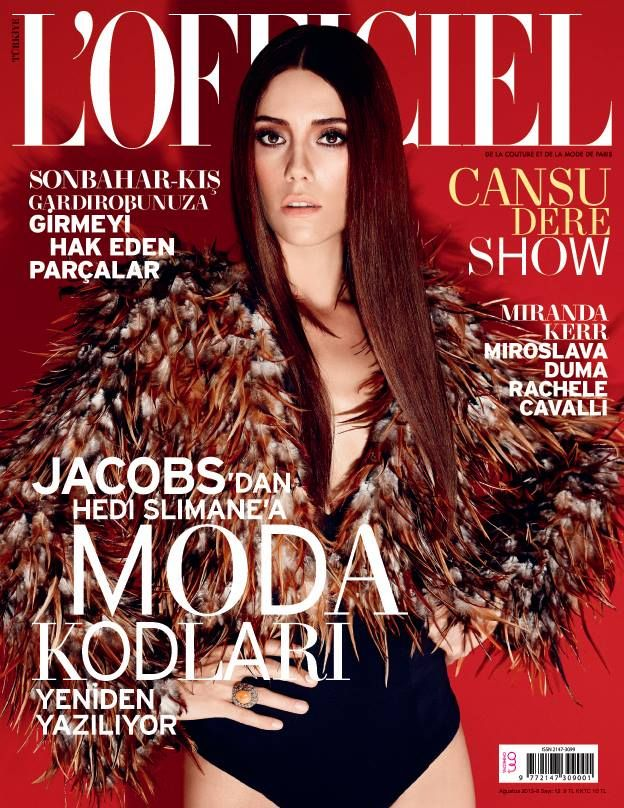 Cansu Dere #cover #magazine #fashion #beauty #queen #turkish #actress #model #lofficiel