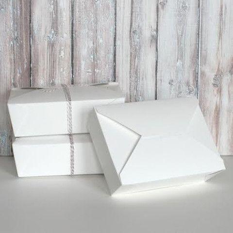 White Takeout Box - Set of 10 | The TomKat Studio Shop