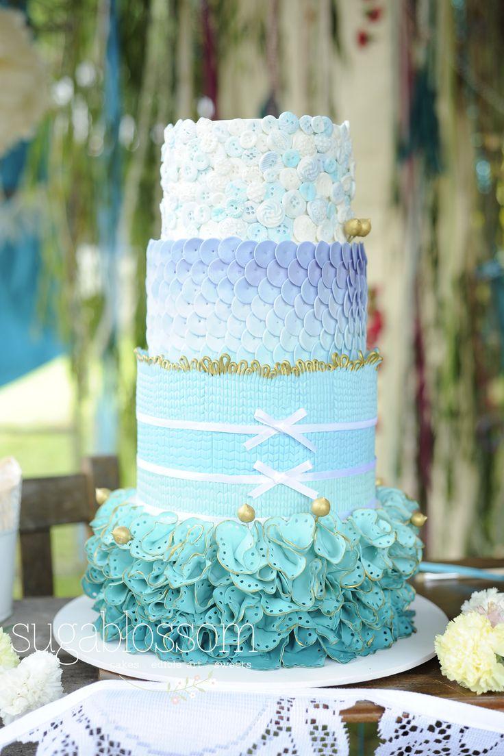 Fabric inspired cake