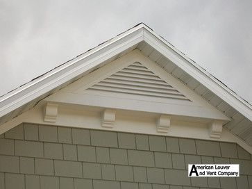 Gable Attic Vent Louvers - traditional - spaces - other metro - American Louver And Vent Company