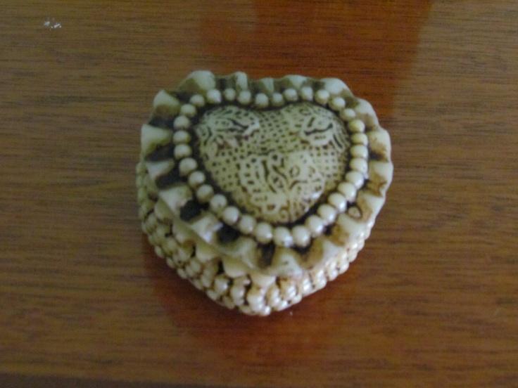 Porta Joias pequeno coração marfin