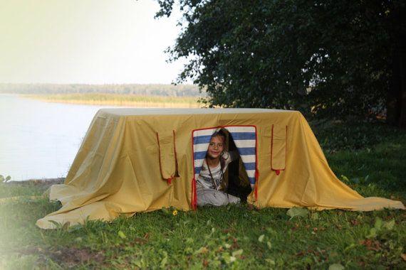 Table play house playhouse tablecloth play house by StripedCoast