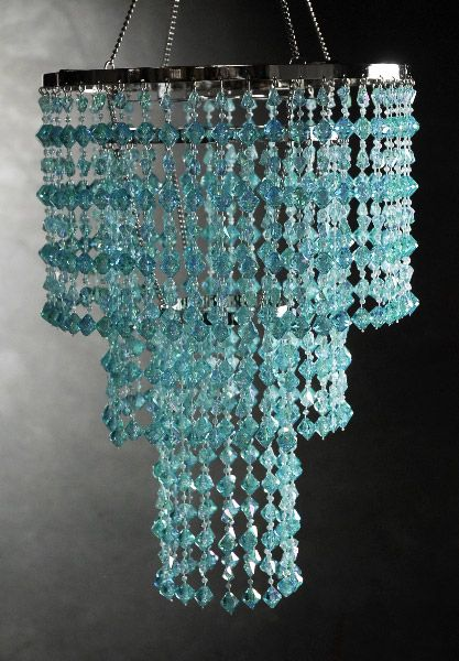 aqua blue crystal 3 tier chandelier 16x10 tiffany blue bedroomblue
