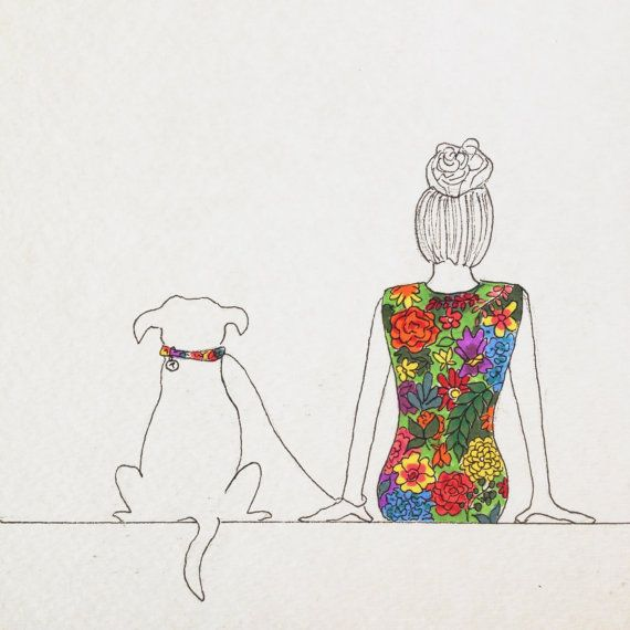 19 Works of Art That Celebrate the Bond Between A Girl and Her Dog
