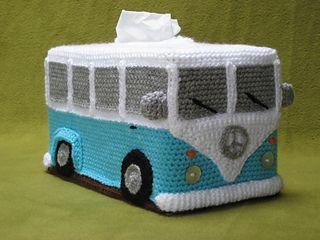 Volkswagen Bus Camper Van Tissue Box Cover Crochet Pattern