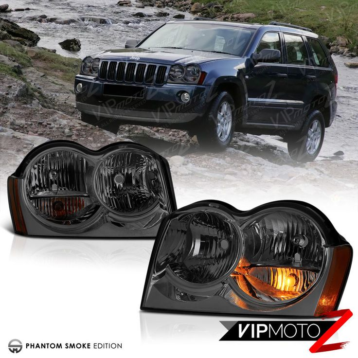 [SMOKE] 2005 2006 2007 Jeep Grand Cherokee WK Tinited Front Headlights Assembly | eBay Motors, Parts & Accessories, Car & Truck Parts | eBay!