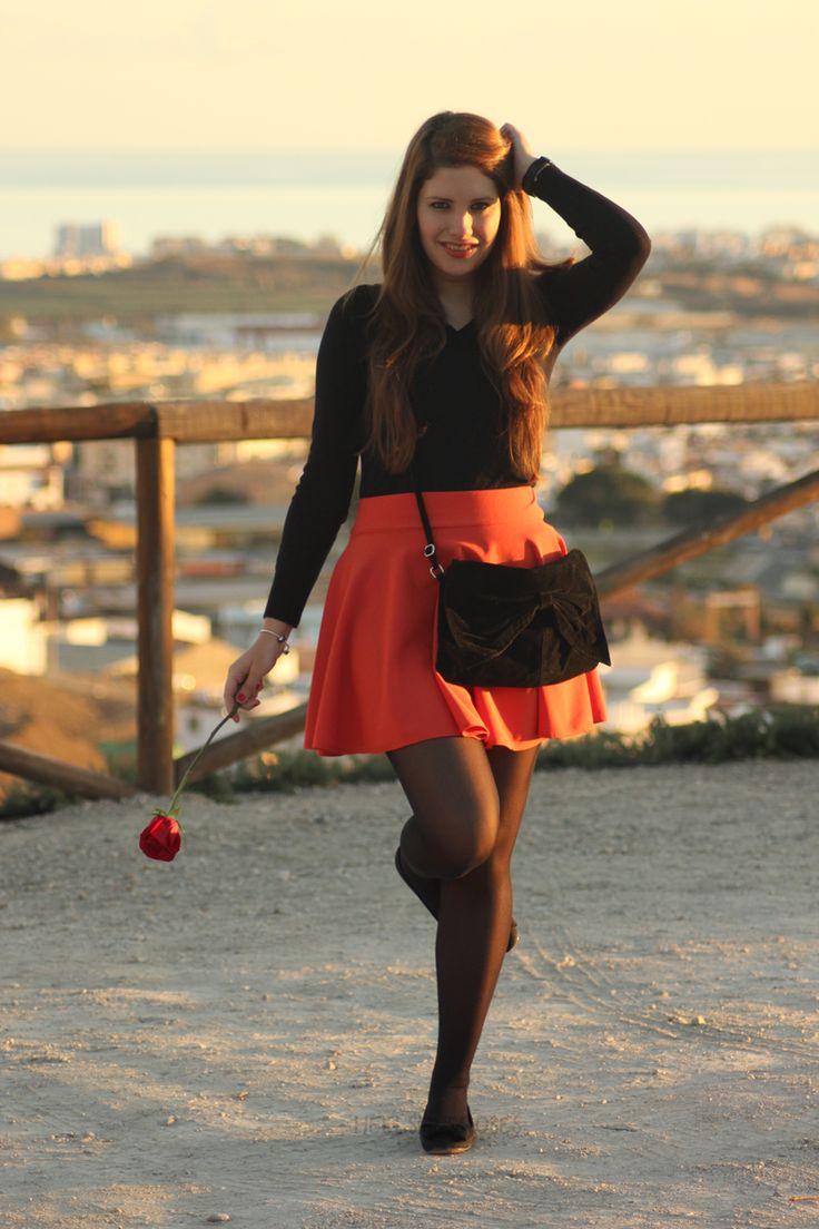 Gonna arancione-heelsandroses- (3)