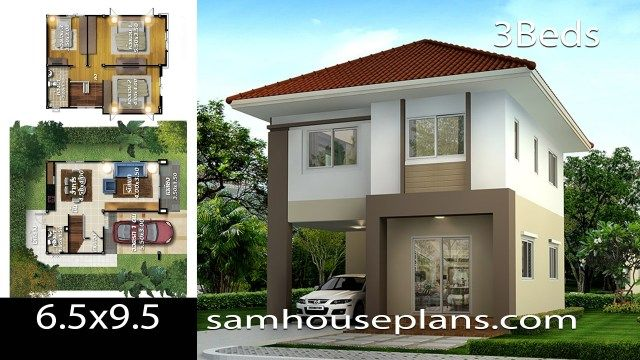 House Plans Idea 6 5x9 5 With 3 Bedrooms House Plans Small House Design House