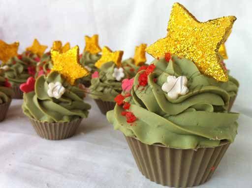Xmas cupcakes soap, jabon de Navidad