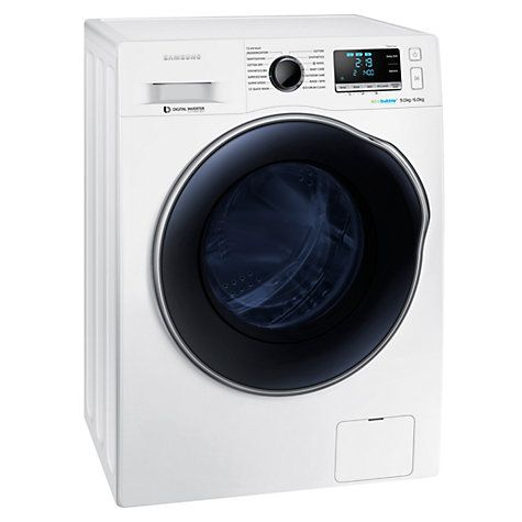 Buy Samsung WD90J6410AW Freestanding Washer Dryer, 9kg Wash/6kg Dry Load, A…